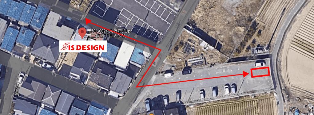 アイエスデザイン株式会社の駐車場を示す画像